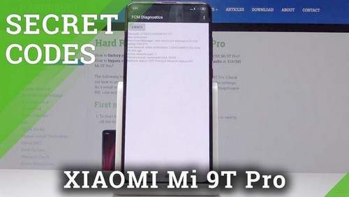 Engineering Menu Xiaomi Mi 9t Pro