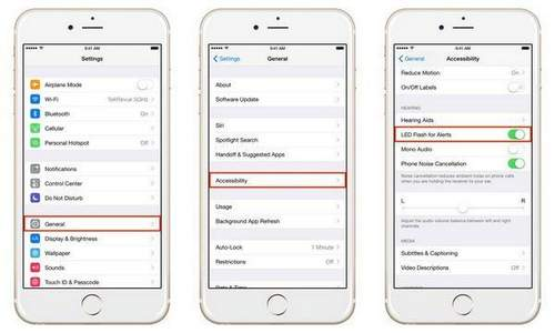 How To Enable Flash Blinking When Calling On Iphone