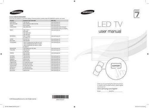 Marking And Labeling Of Samsung 2012-14 Year Tvs