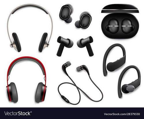 What is included in the set of wireless headphones