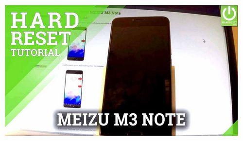 Meizu M3 Factory Reset