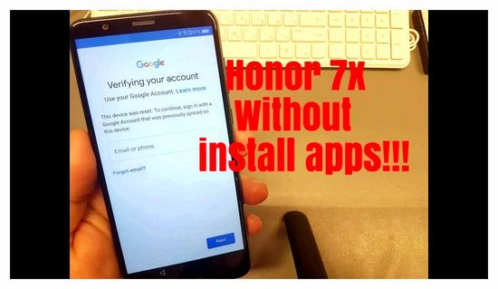Reset Google Account on Android Honor